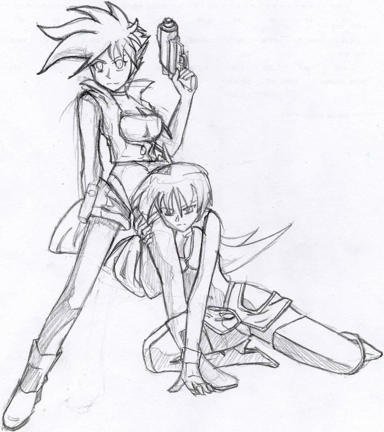 Dirty Pair Flash by A-Fistful-Of-Kittens