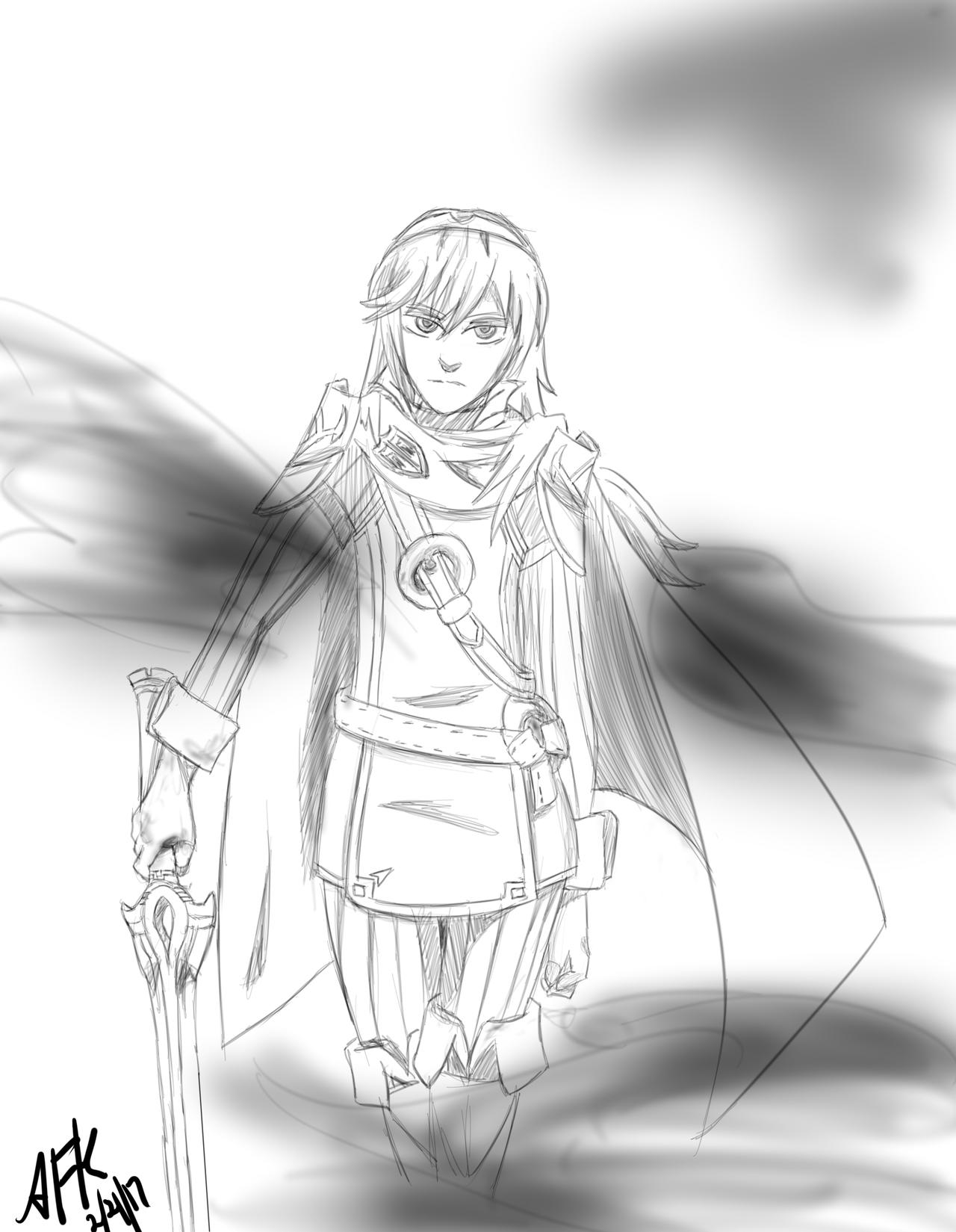 F:art - Lucina (line art) by A-Fistful-Of-Kittens