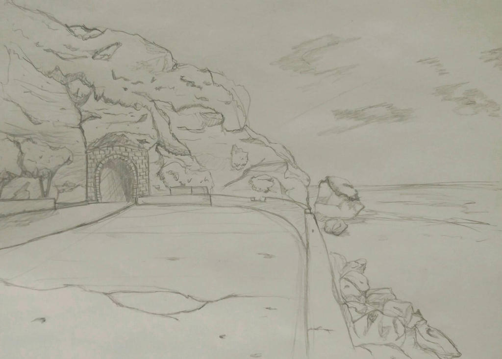 beach and tunnel by A-Fistful-Of-Kittens
