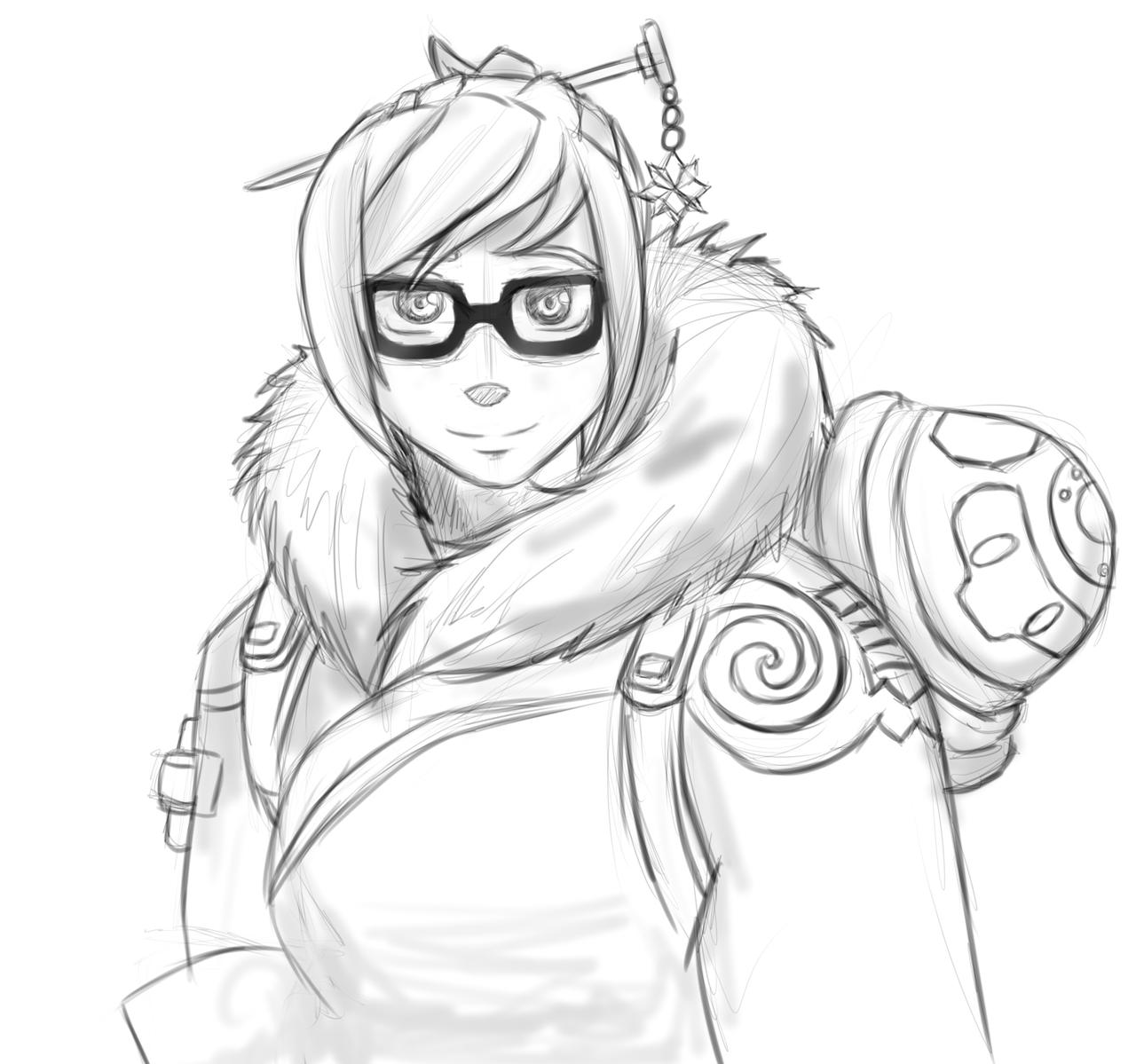 F:art- Mei (sketch) by A-Fistful-Of-Kittens