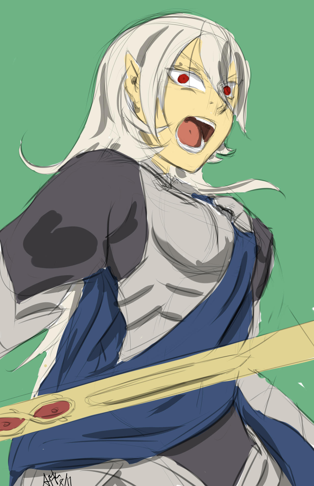 F:art- Corrin (sketch) by A-Fistful-Of-Kittens