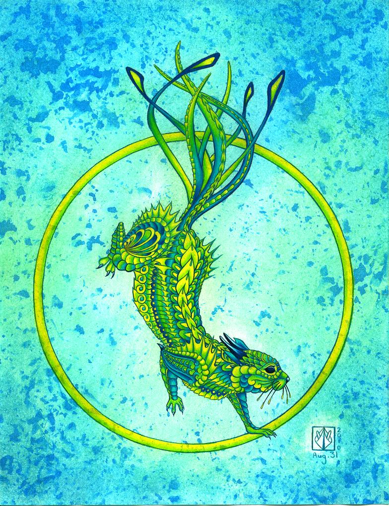 Dragon Squirrel by PrismaticLily