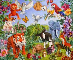 Knitted garden of Eden by veracauwenberghs