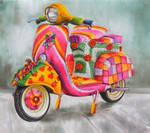 Embellished Vespa by veracauwenberghs