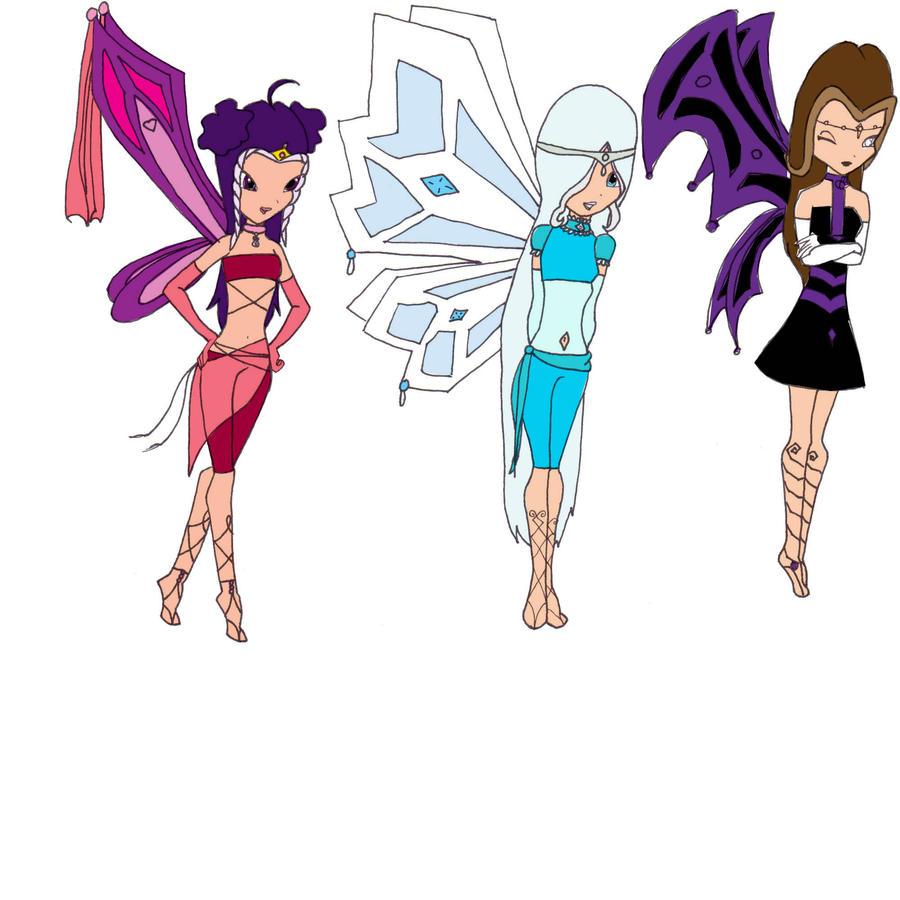Icy,Darcy,and Stormy Enchantix by animehero1