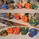 Miniature dragonbaby hatchling pendants by Barsudrak