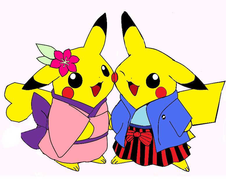 cute pikachu couple pokemon - photo #14