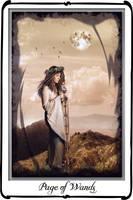 Tarot - Page of Wands by azurylipfe