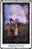 tarot- Knight of Wands by azurylipfe