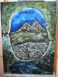 Trad: landscape painting by azurylipfe