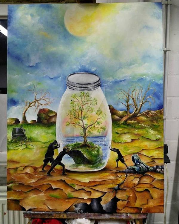 Mankinds Greed part II  Gluttony by azurylipfe
