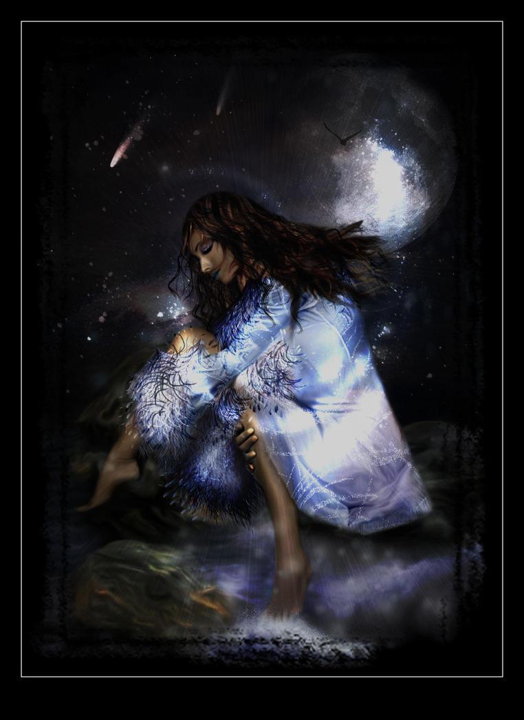 the goddess nyx by azurylipfe on deviantart