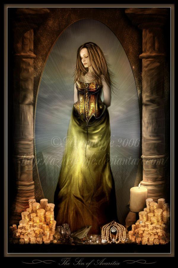 The sin of Avaritia by azurylipfe