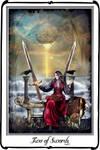 Tarot- Two of Swords by azurylipfe