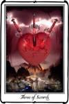 Tarot-Three of Swords by azurylipfe