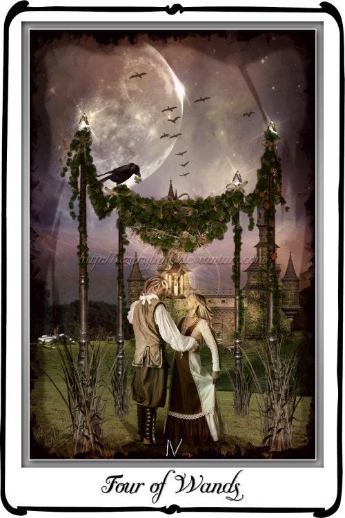 Tarot Four of Wands by azurylipfe