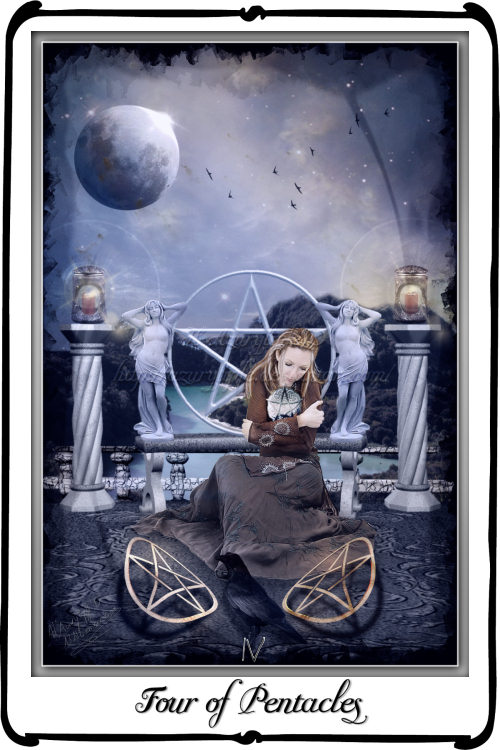 Tarot Four Of Pentacles By Azurylipfe On Deviantart