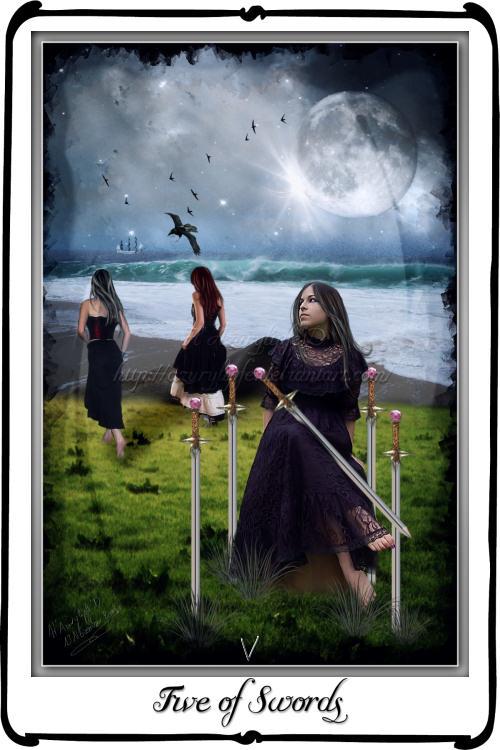 Tarot- Five Of Swords By Azurylipfe On DeviantArt