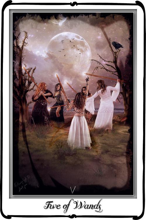 Tarot- Five of Wands
