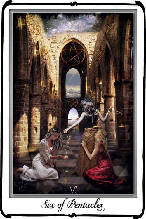 Tarot- Six Of Pentacles By Azurylipfe On DeviantArt