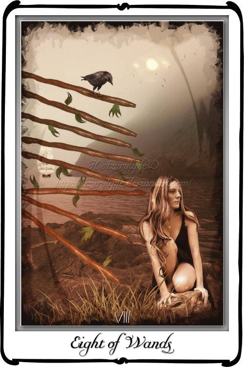 Tarot- Eight of Wands by azurylipfe