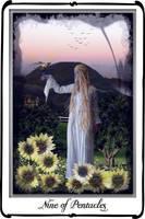 Tarot-Nine of Pentacles