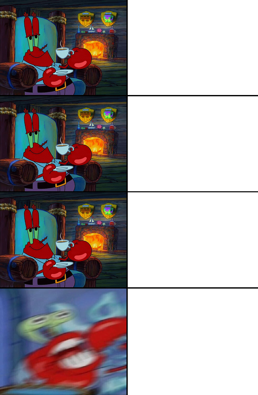 Mr Krabs Shocked Meme Template by ZackSonic123 on DeviantArt