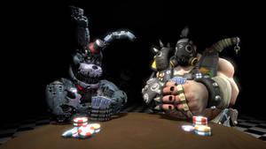 Playing Poker With Mako by ZackSonic123