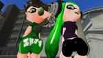 Green Girls by ZackSonic123