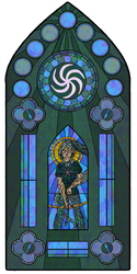 Heir of Space stained glass by Dreylen