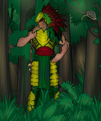 Lady Anaconda (with background)