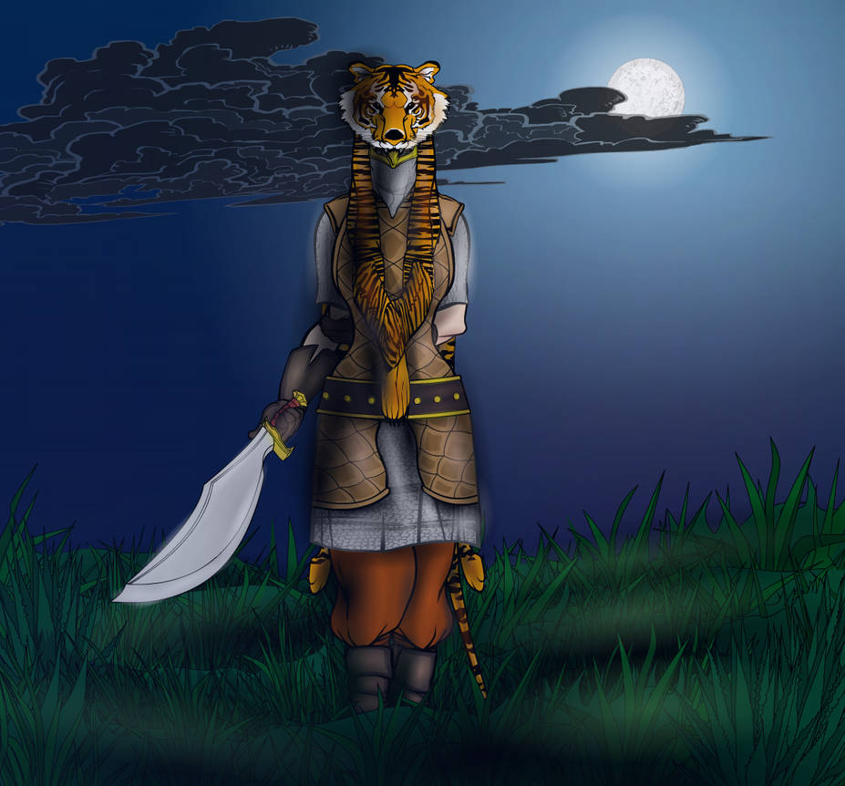 Lady Tiger (with background)