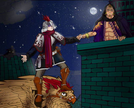 The Gryphon Rider's Moonlight Rendezvous