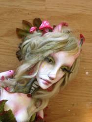 Alice in wonderland Caterpillar  art doll WIP by cliodnafae27