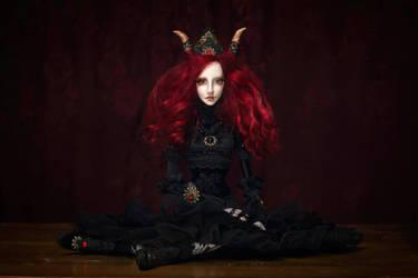 Miriam OOAK Gothic Art Doll by cliodnafae27