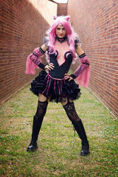 Black Lady Cosplay based off fan art by No Flutter