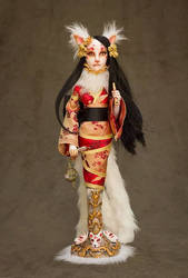 Kitsune Art Doll