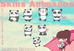 Skins Animados XWidget Pandas by Vale Zzuco