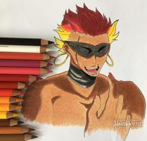 Musashi Headshot -- Nanbaka by HardH3rtz