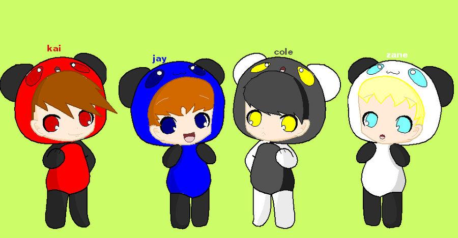 Cute Ninjago Boys In Panda Outfits By Sammiethehedgehog13 On