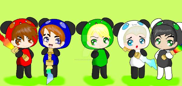 Cute Ninjago Panda Ninjas By Sammiethehedgehog13