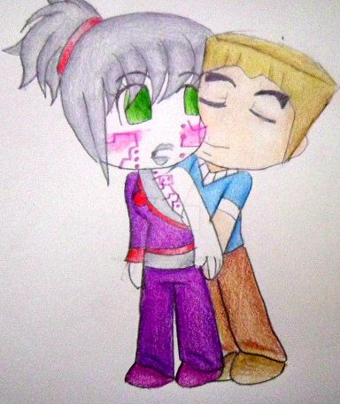 chibi pixal and zane by sammiethehedgehog13 on deviantart