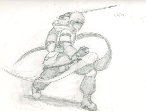 Wil Action Pose draft by ApprenticeArtifexW