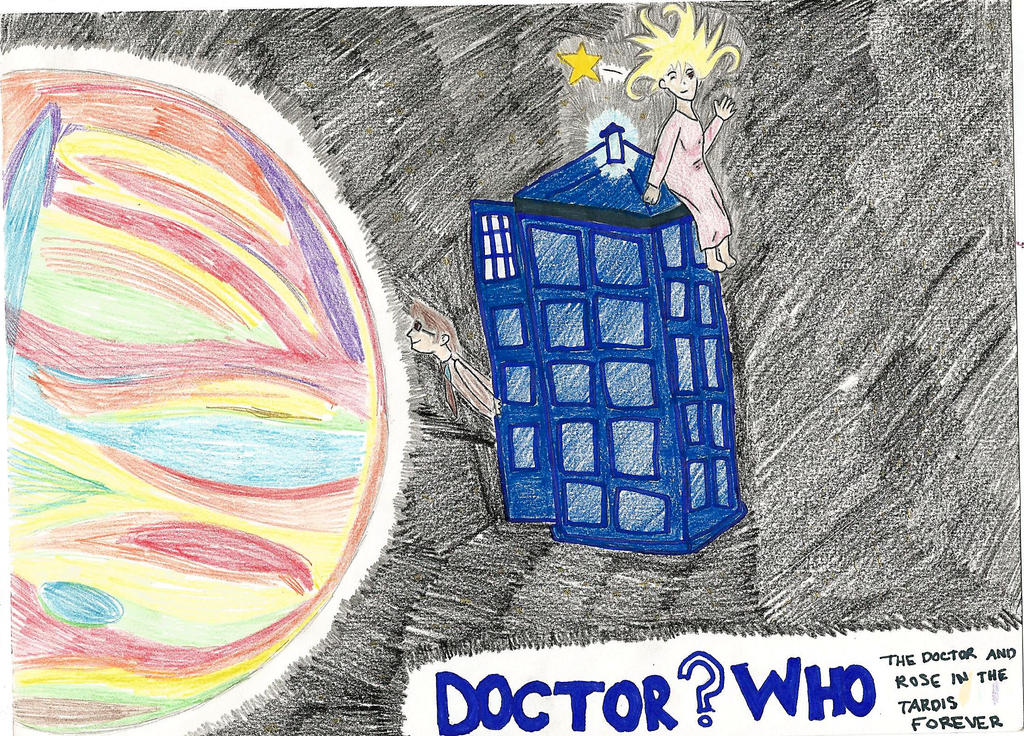 The Doctor and Rose in the TARDIS by Kolinopolis13