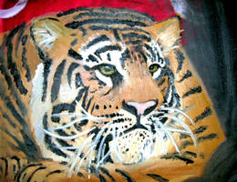 Tiger painting by NoRuLLa