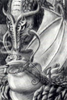 Dragon in Cafe by NoRuLLa
