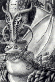 Dragon in Cafe