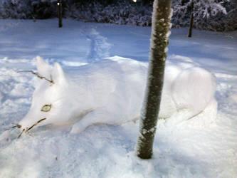 Arctic Fox-Statue