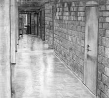 My school's hallway by NoRuLLa