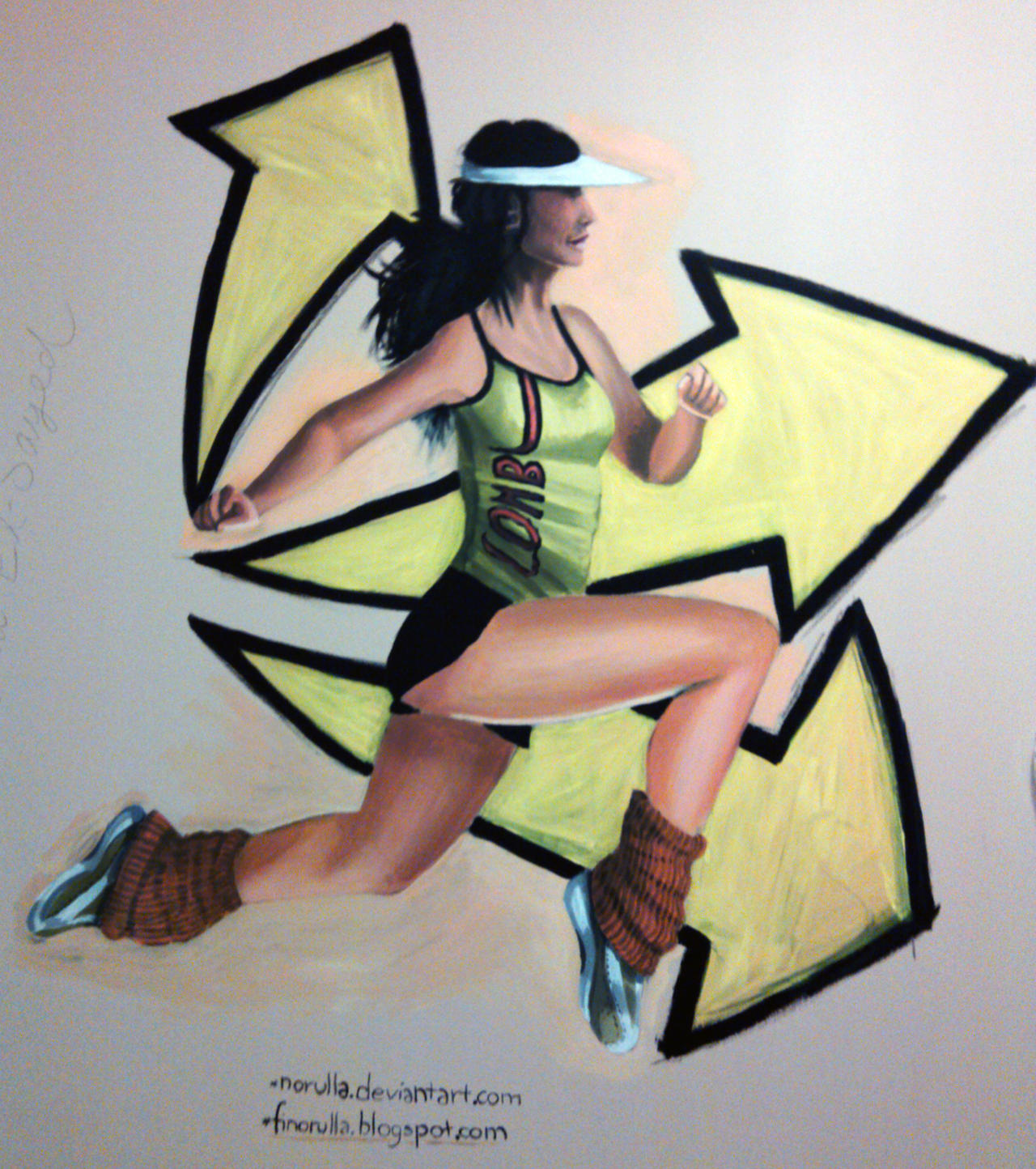 Wall Painting - Jogging by NoRuLLa